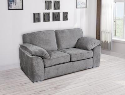 GFA Camden 2 Seater Fixed Sofa - Light Grey Fabric
