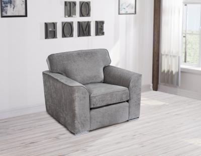 GFA Camden Fixed Armchair - Light Grey Fabric