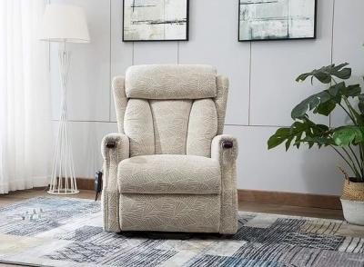 GFA Denmark Riser Recliner Chair - Brushstroke Cream Fabric