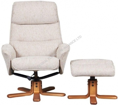 GFA Amalfi Stone Fabric Recliner Chair