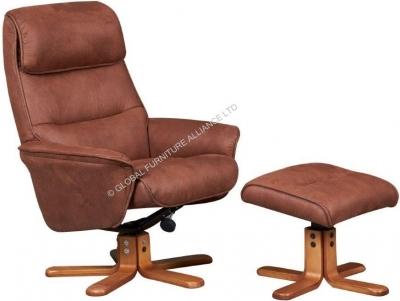 GFA Amalfi Tan Fabric Recliner Chair