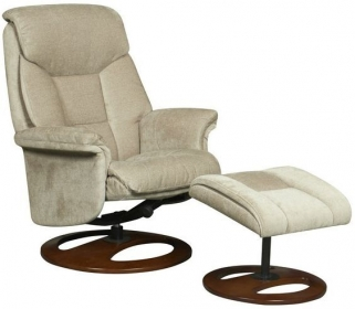 GFA Hampton Mink Fabric Swivel Recliner Chair