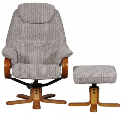GFA Hong Kong Wheat Fabric Swivel Recliner Chair