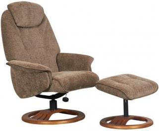 GFA Oslo Mink Fabric Swivel Recliner Chair