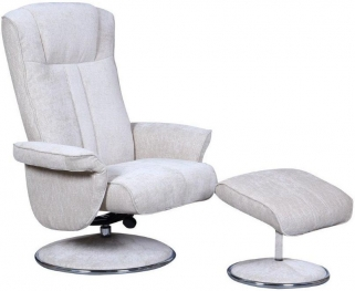 GFA Portia Beige Fabric Swivel Recliner Chair