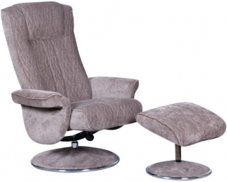 GFA Portia Fudge Fabric Swivel Recliner Chair