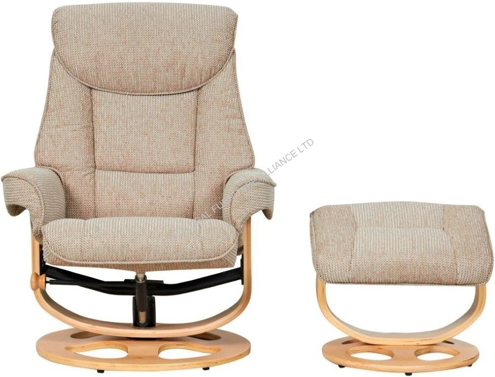 GFA Capri Stone Fabric Recliner Chair