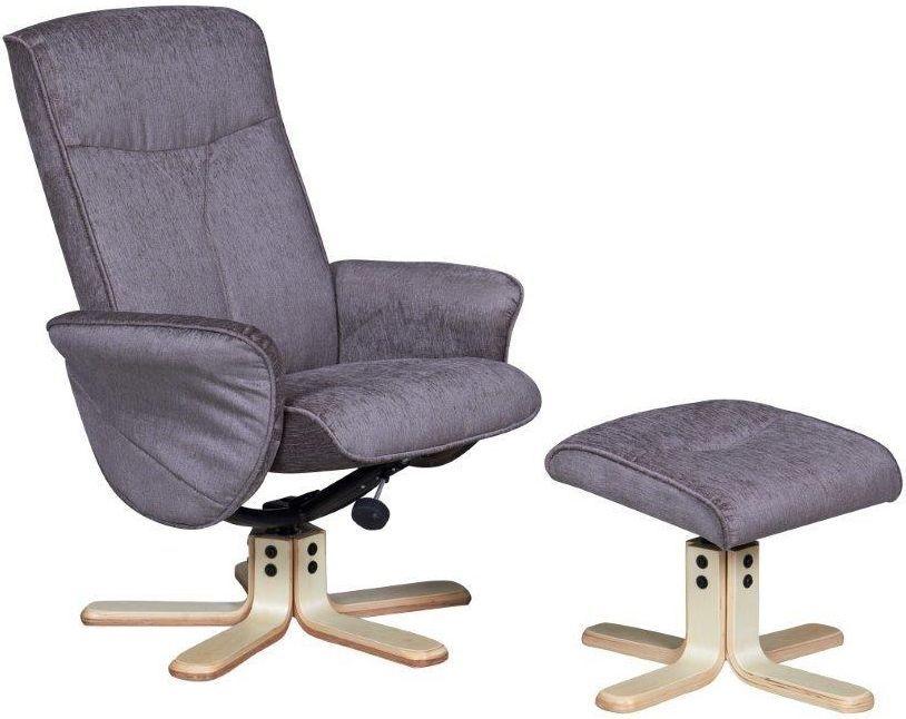 GFA Marrakech Mink Fabric Swivel Recliner Chair
