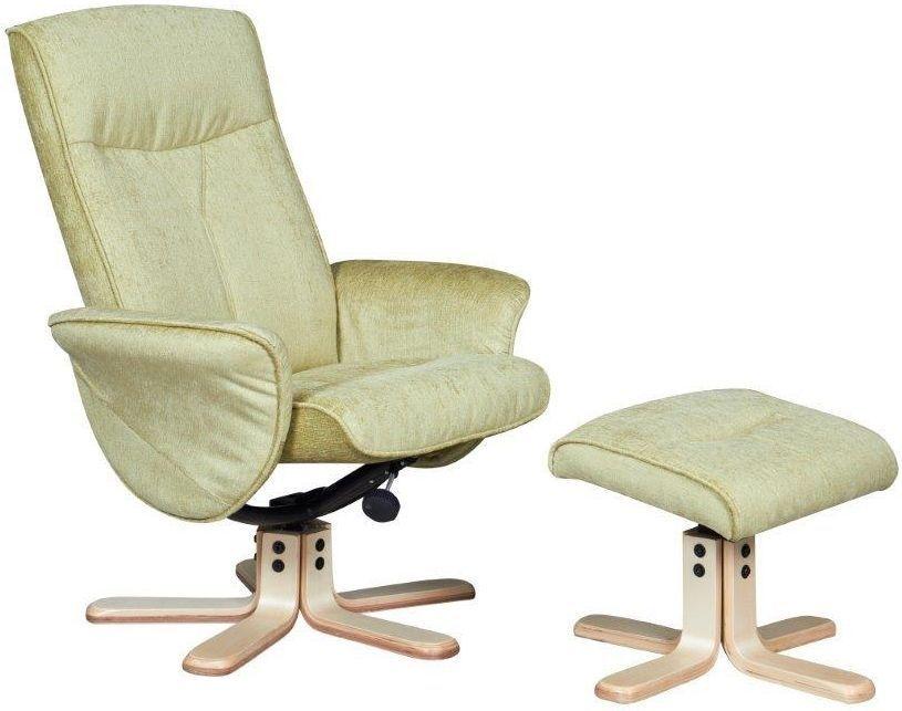 GFA Marrakech Pistachio Fabric Swivel Recliner Chair