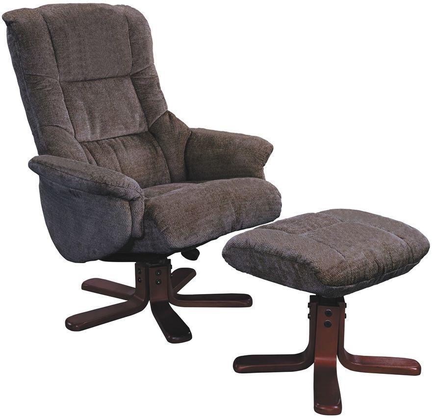 Gfa Shangri La Mink Fabric Swivel Recliner Chair Global