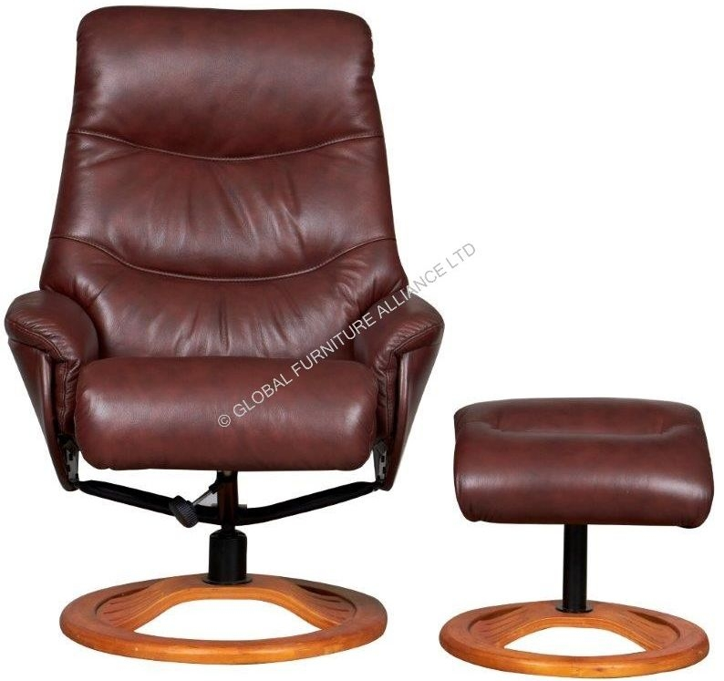 GFA Toulouse Chestnut Leather Recliner Chair