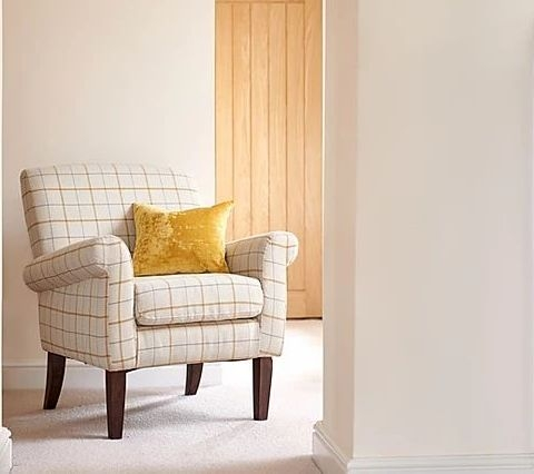 GFA Highland Accent Chair - Butterscotch Plaid Fabric