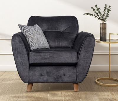 GFA Holborn Fixed Armchair - Graphite Fabric