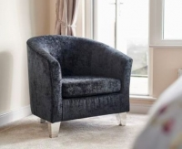 GFA Jubilee Accent Tub Chair - Jet Fabric