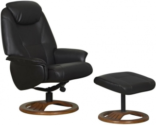 GFA Oslo Chocolate Bonded Leather Swivel Recliner Chair