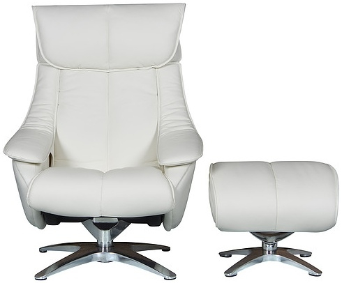 buy gfa alpha white leather swivel recliner chair online cfs uk