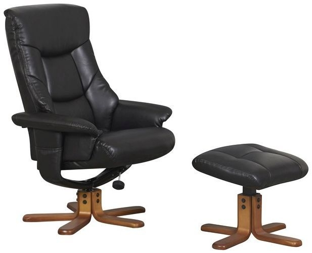 GFA Beijing Chocolate Faux Leather Massage Swivel Recliner Chair
