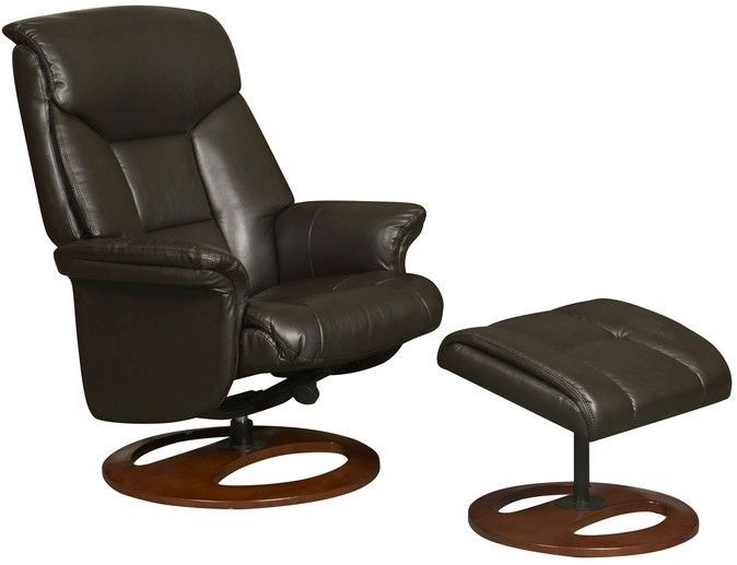 GFA Hampton Chocolate Faux Leather Swivel Recliner Chair