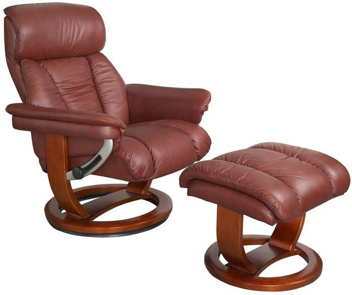 GFA Mars Chestnut Leather Swivel Recliner Chair