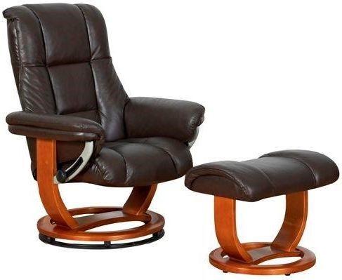 GFA Windsor Grande Chocolate Leather Swivel Recliner Chair