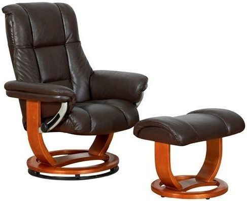 GFA Windsor Standard Chocolate Leather Swivel Recliner Chair