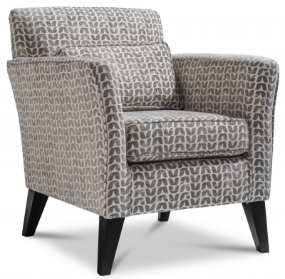 GFA Milford Fabric Accent Chair - Isla Charcoal