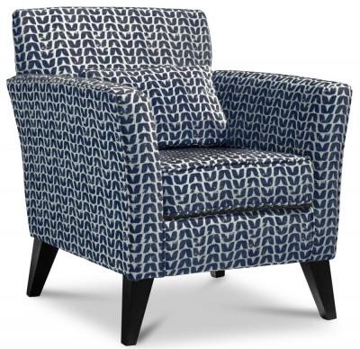 GFA Milford Fabric Accent Chair - Isla Indigo