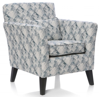 GFA Milford Fabric Accent Chair - Rombotex Teal