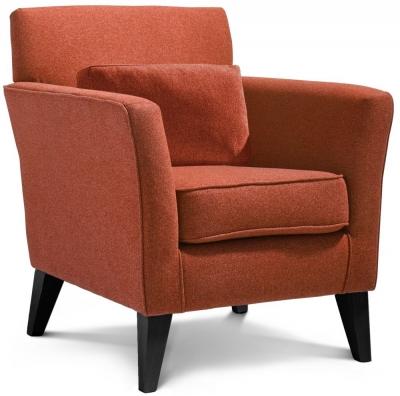 GFA Milford Plain Fabric Accent Chair