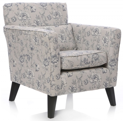 GFA Milford Printed Fabric Accent Chair