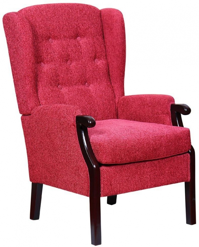 GFA Rome Fireside Chair - Pomegranate Fabric