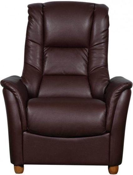 GFA Shanghai Armchair - Nut Brown Leather