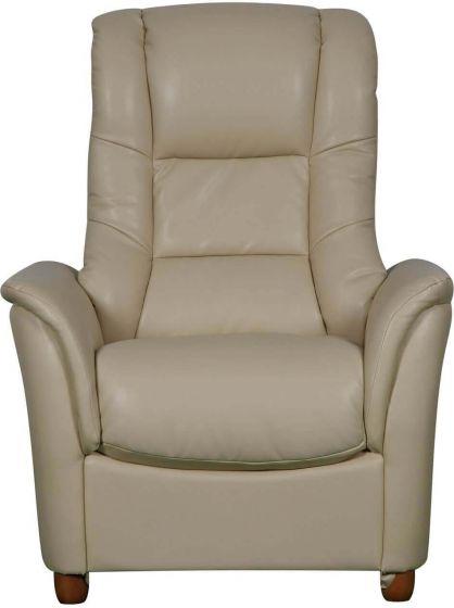 GFA Shanghai Armchair - Cream Leather