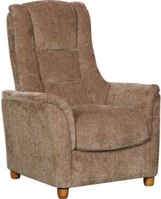 GFA Shangri La Mink Fabric Fixed Chair