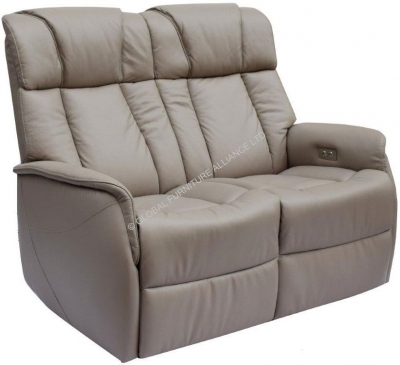GFA Sorrento 2 Seater Pebble Recliner Sofa