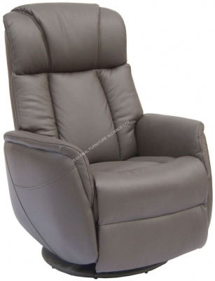 GFA Sorrento Espresso Leather Recliner Chair