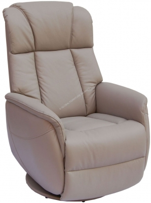 GFA Sorrento Pebble Leather Recliner Chair