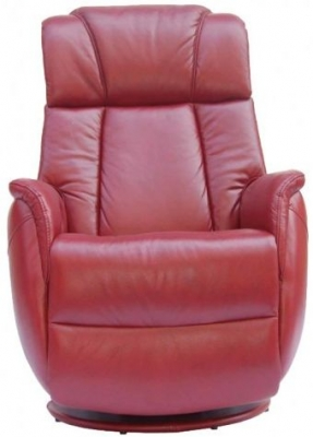 GFA Sorrento Ruby Red Leather Recliner Chair