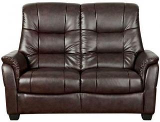 GFA Windsor Chocolate Leather 2 Seater Sofa
