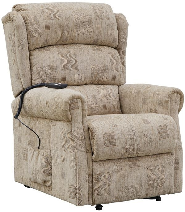 GFA Cambridge Biscuit Mosaic Fabric Single Motor Riser Recliner Chair