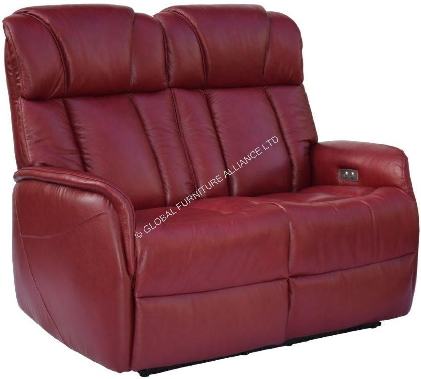 GFA Sorrento 2 Seater Ruby Red Recliner Sofa