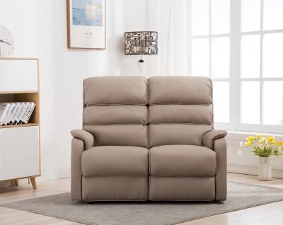 GFA Valencia Electric Swivel Recliner 2 Seater Sofa - Pebble Plush Fabric