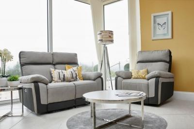 GFA Vermont 2+1 Seater Fabric Recliner Sofa