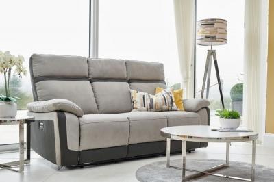GFA Vermont 3 Seater Fabric Recliner Sofa