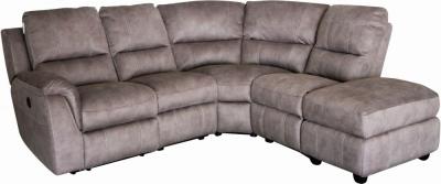 GFA Virginia Left Hand Corner Fabric Recliner Sofa - Pecan