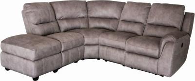 GFA Virginia Right Hand Corner Fabric Recliner Sofa - Pecan
