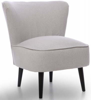 GFA Wilby Fabric Accent Chair - Dolly Chrome
