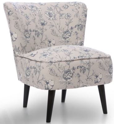 GFA Wilby Fabric Accent Chair - Floral Cornflower