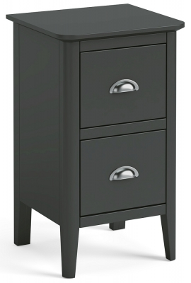 Global Home Arundel Charcoal Painted Narrow Bedside Cabinet