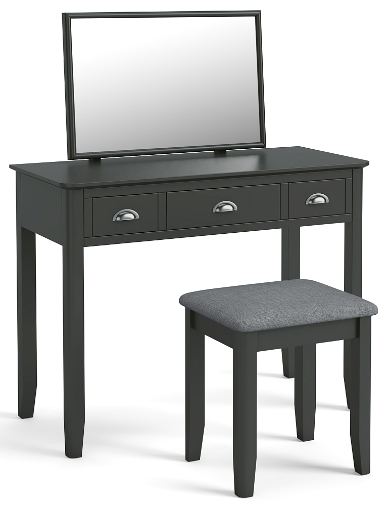Global Home Arundel Charcoal Painted Dressing Table Set